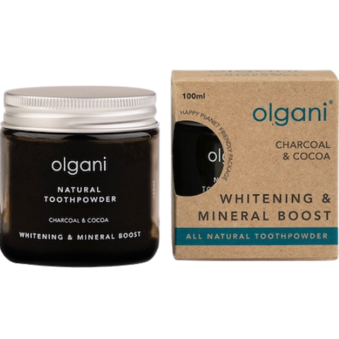 Olgani Natural Charcoal & Cocoa Toothpowder