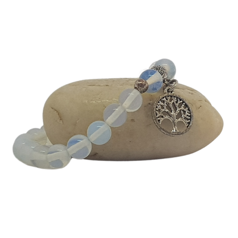 Opalite Bracelet with Tree of Life Charm