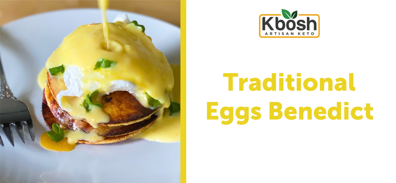 Traditional Eggs Benedict on a Dessert Cauliflower Keto Crust