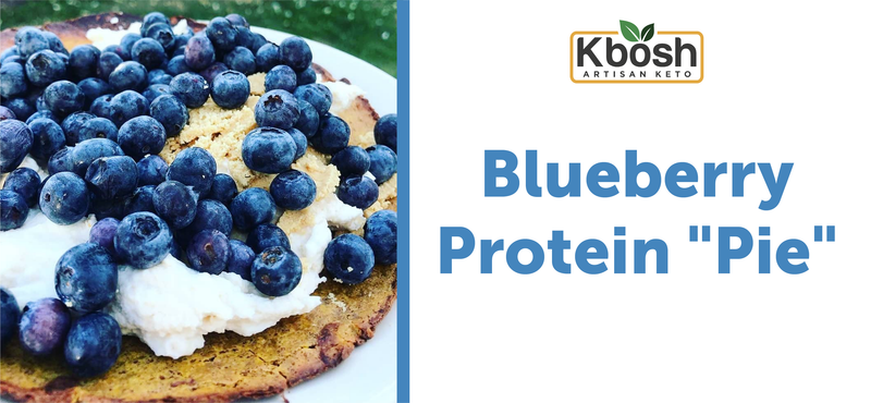 "Blueberry Protein ""Pie"" on Pumpkin Zucchini Crust"