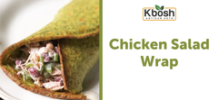 Chicken Salad Wrap on Kale Crust