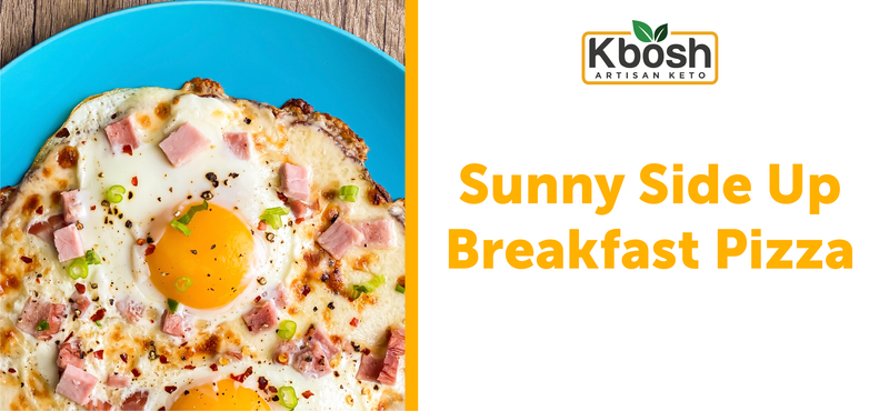 Sunny-Side Up Breakfast Pizza on Broccoli Keto Crust