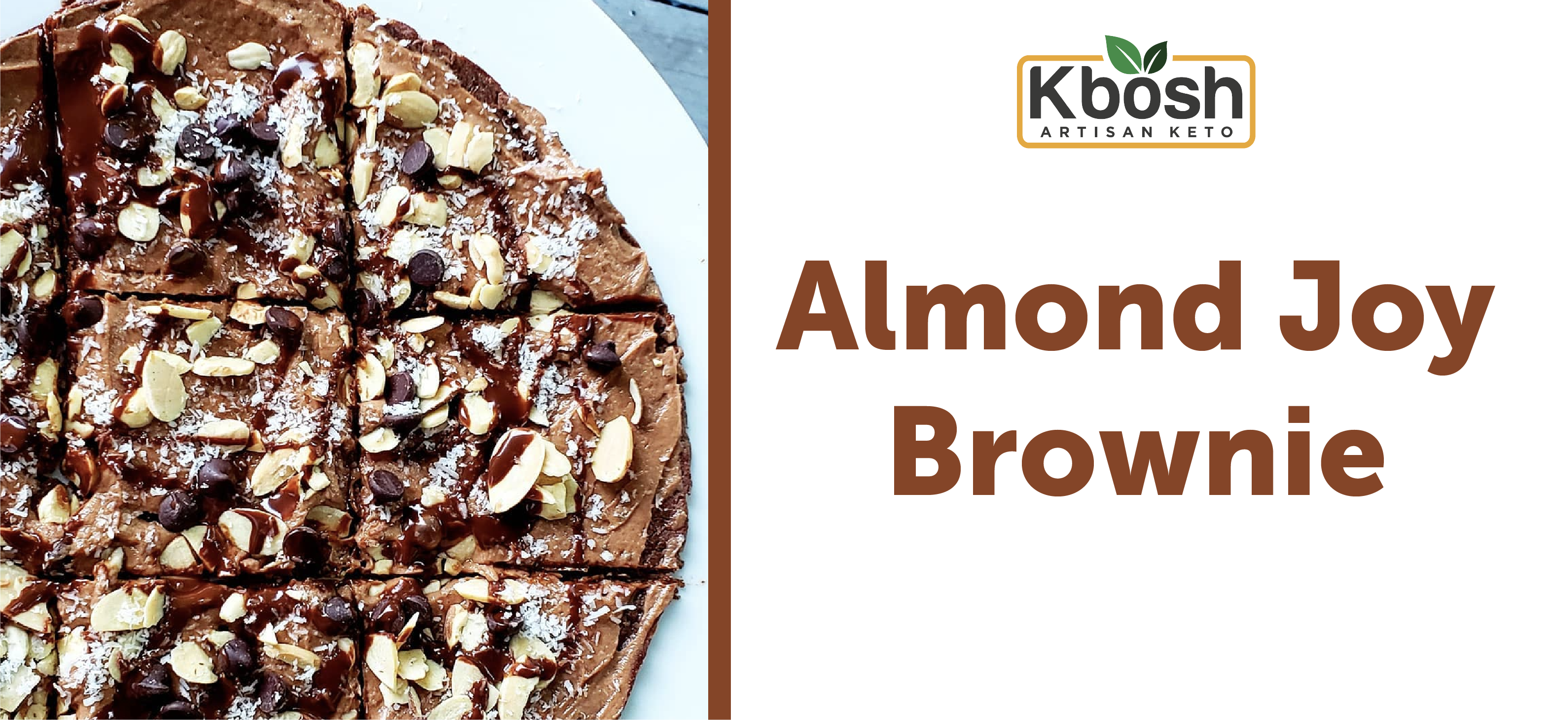 Almond Joy Brownie on Chocolate Zucchini Crust