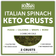 Italian Spinach Keto Crust: Pizzas, Wraps, Breakfast