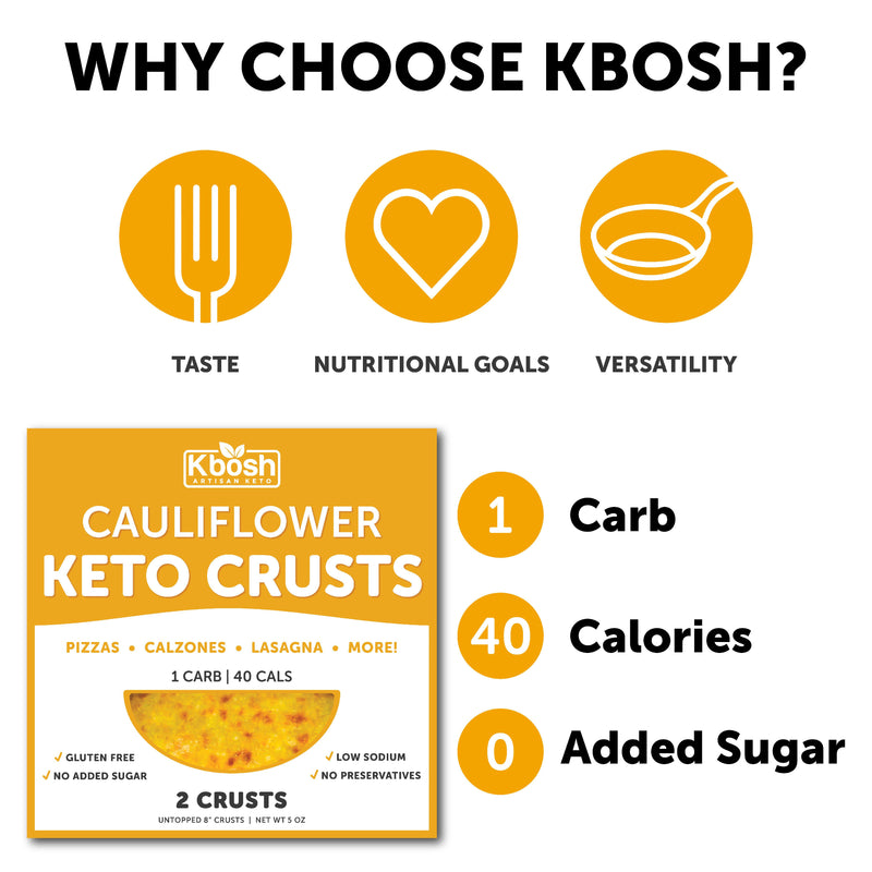 Cauliflower Keto Crust: Pizzas & More - KBosh