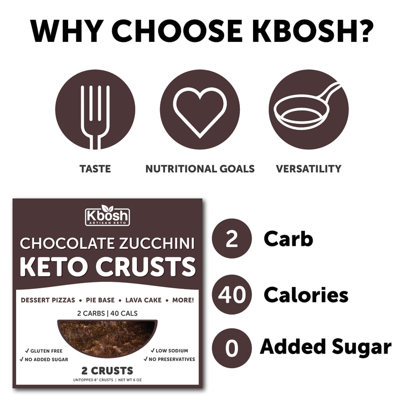 Chocolate Zucchini Keto Crust - KBosh