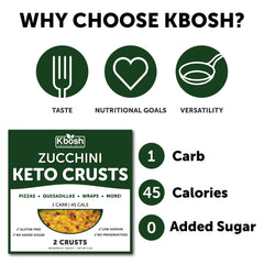 Zucchini Keto Crust: Pizza, Low Carb Snacks & More - KBosh