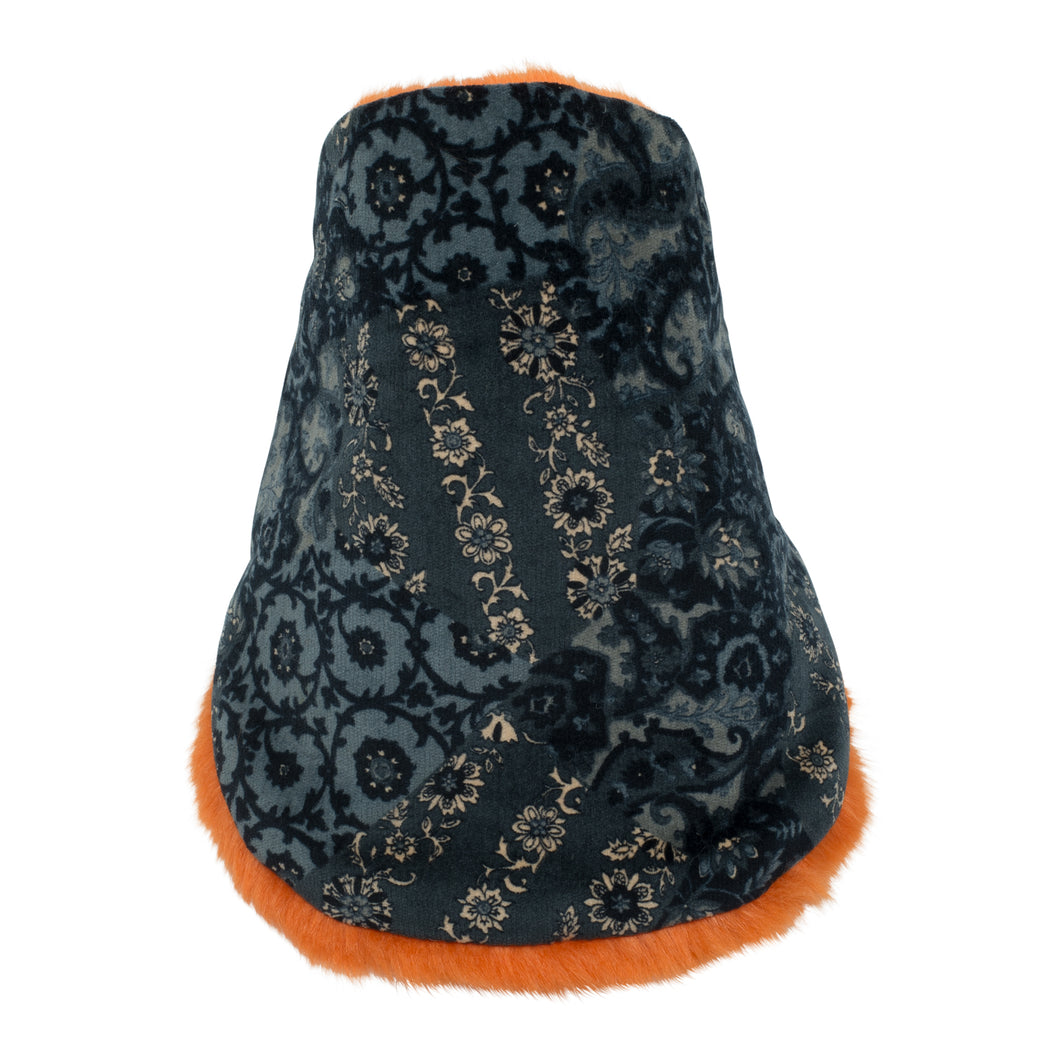 ELIO HIVER orange Neck warmer for children handmade in Japan front view
