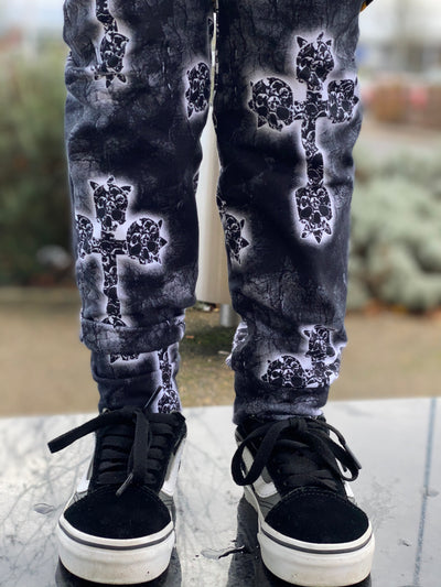 Mono Skull Cross Leggings