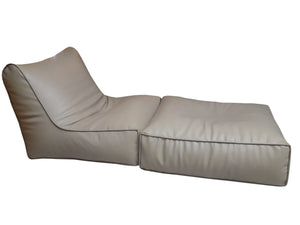 Leather Sofa cum Bed Gray-Home Sweet Home Interiors