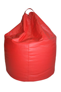 Coloured Leather Bean Bag