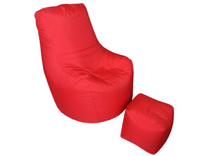 bean bag sofa with stool-Home sweet home interiors
