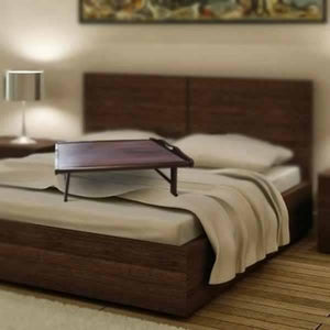 Dark Brown Bed Table-Home Sweet Home Interiors