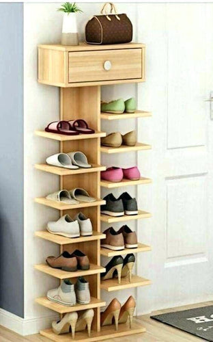 Irish double sided shoe rack with drawer-home sweet home interiors