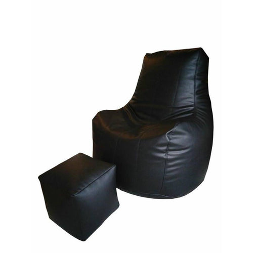Leather Bean Bag-Home Sweet Home Interiors