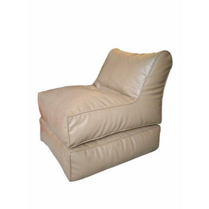 Leather Sofa cum Bed Beige-Home Sweet Home Interiors