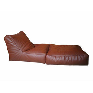 Leather Sofa cum Bed Brown-Home Sweet Home Interiors
