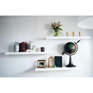 Set of 3 White Floating Shelves-Home Sweet Home Interiors