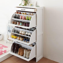 Latte Shoe Cabinet with 3 compartments-home sweet home interiors