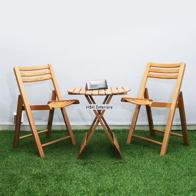 Three piece Beech wood Table and Chair Bundle-Home Sweet Home Interiors