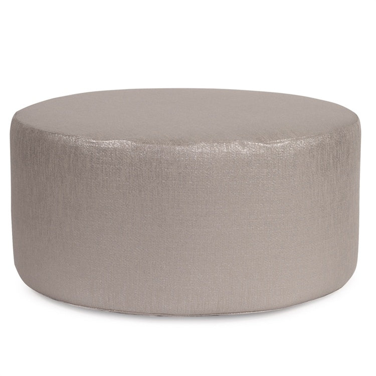 Glam Pewter Ottoman in 3 Sizes