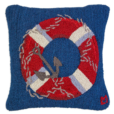 Life Ring Hooked Pillow 18 in.