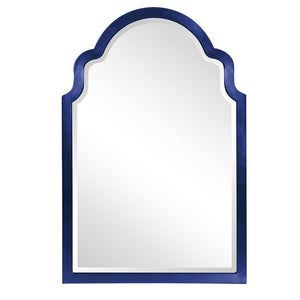 "Sultan Mirror - Glossy Navy 24"" W x 36"" H"