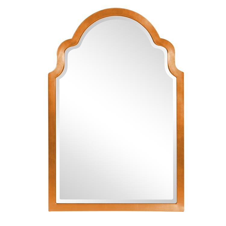 "Sultan Mirror - Glossy Orange 24"" W x 36"" H"