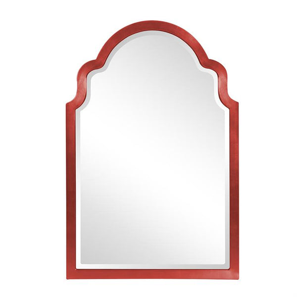 "Sultan Mirror - Glossy Red 24"" W x 36"" H"