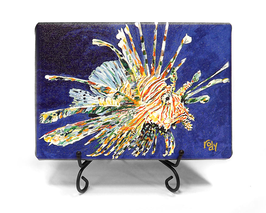 Dale's Lion Fish Mini Giclee by Kim Rody