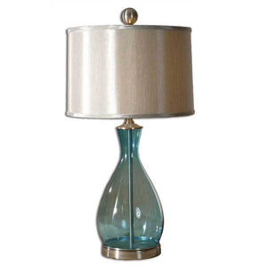 Blue Glass Beach Decor Table Lamp