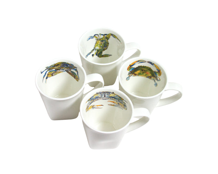 Blue Crab Mug Set by Kim Rody
