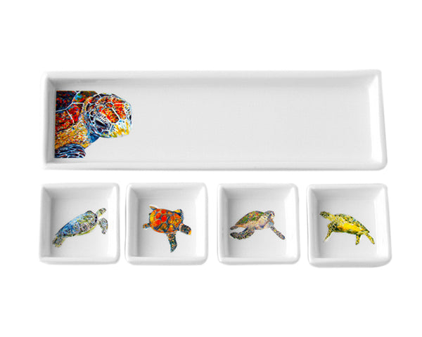 Bling Turtle Cracker & Dip Set by Kim Rody