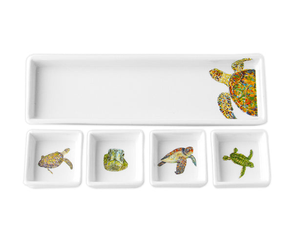 Navigator Turtle Cracker & Dip Set by Kim Rody