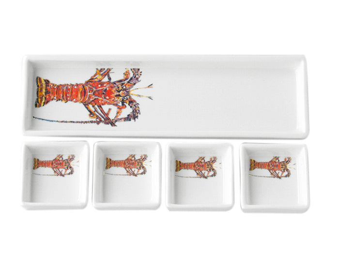 Kitchen Lobster Cracker & Dip Set by Kim Rody