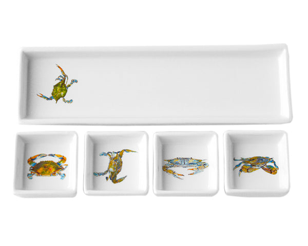 Blue Crab Cracker & Dip Set by Kim Rody