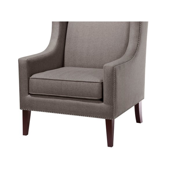 Classic Wing Back Chair - Grey