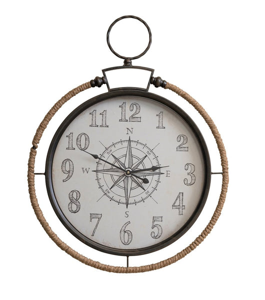 "Nantucket Rope Clock 30.75"" H x 24"" W"