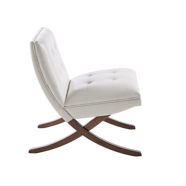 Mid-Century Lounge Chair - White
