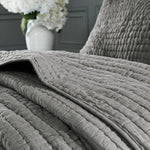 Coastal Gray Serene 3 Piece Cotton Coverlet Set