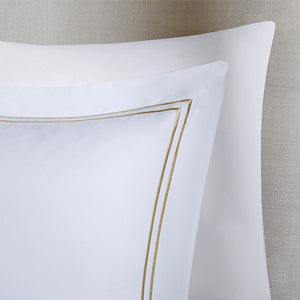 Coastal Luxury Duvet Set with Tan Accents
