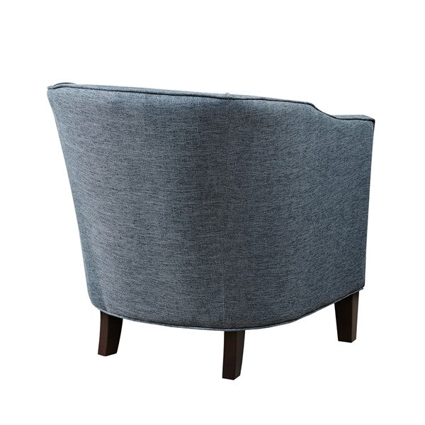 Nail Trimmed Barrel Chair - Slate Blue