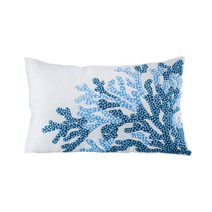 Coral Reef Pillow for Coastal Beach Decor