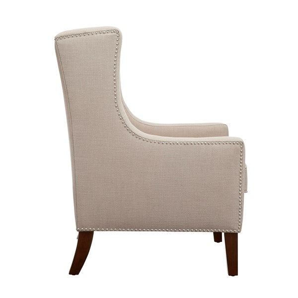 Classic Wing Back Chair - Linen
