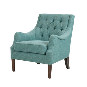 Button Tufted Arm Chair - Teal