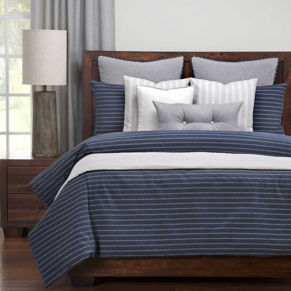 Burlap Indigo Bedding Collection