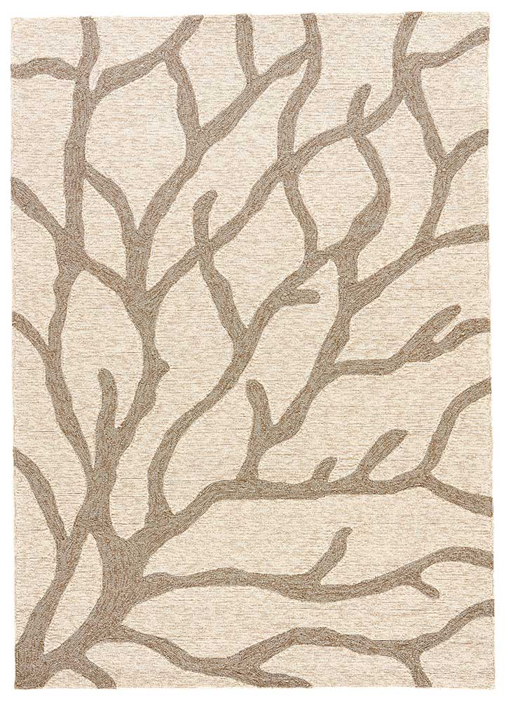 Coral White Indoor-Outdoor Area Rug