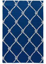 Fish Net Blue Indoor-Outdoor Area Rug