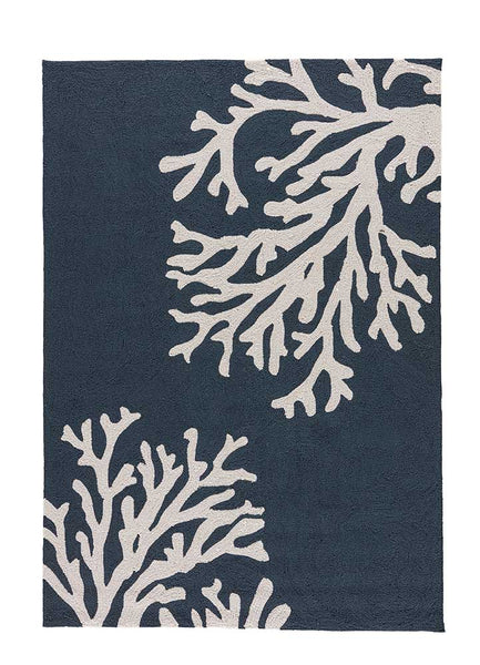 Bough Out Navy Indoor-Outdoor Area Rug