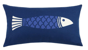 Colorfish Blue Outdoor Pillow 12 in. x 20 in.